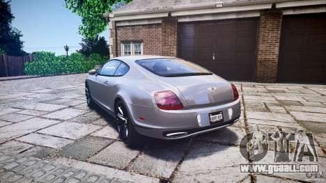 Bentley Continental SuperSports 2010 [EPM] for GTA 4 back left view