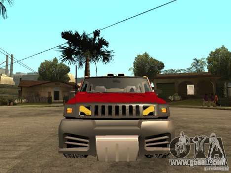 Hummer H2 NFS Unerground 2 for GTA San Andreas right view
