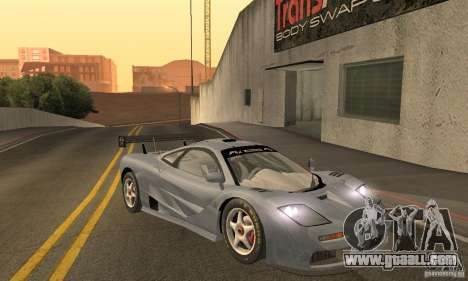 Mclaren F1 LM (v1.0.0) for GTA San Andreas back view