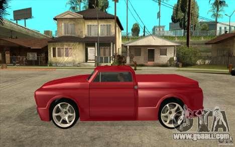 Slamvan Custom for GTA San Andreas left view