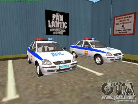 LADA 2170 Police for GTA San Andreas