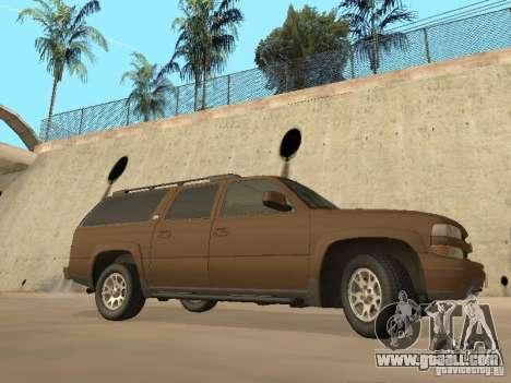 Chevrolet Suburban 2003 for GTA San Andreas back left view