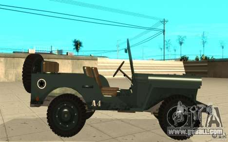 Willys MB for GTA San Andreas left view