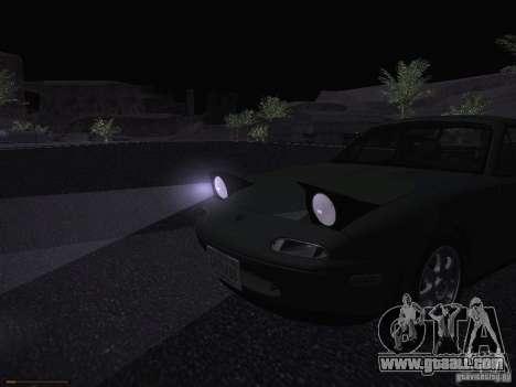 Mazda MX-5 1997 for GTA San Andreas upper view