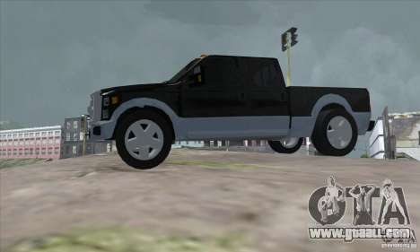 FORD F450 SUPER DUTE for GTA San Andreas left view