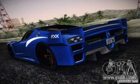 Ferrari FXX Evoluzione for GTA San Andreas left view