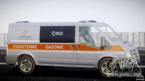 Ford Transit Usluga polski gazu [ELS] for GTA 4 back view
