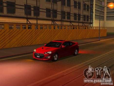 Hyundai Genesis Coupé 3.8 Track v1.0 for GTA San Andreas wheels