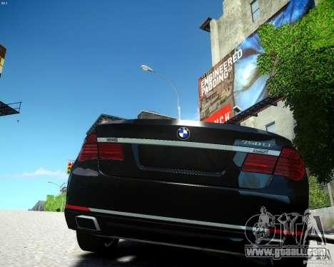 BMW 750Li 2013 for GTA 4 back left view