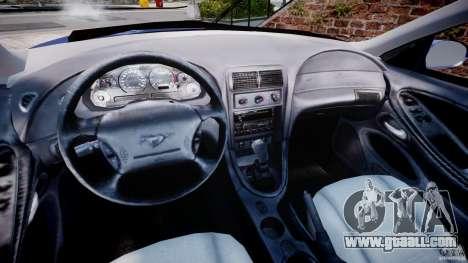 Ford Mustang SVT Cobra v1.0 for GTA 4 back view