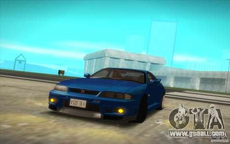 Nissan Skyline R33 GT-R V-Spec for GTA San Andreas right view