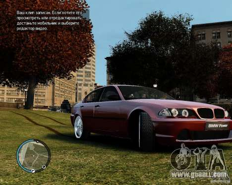 BMW 320i E46 v1.0 for GTA 4