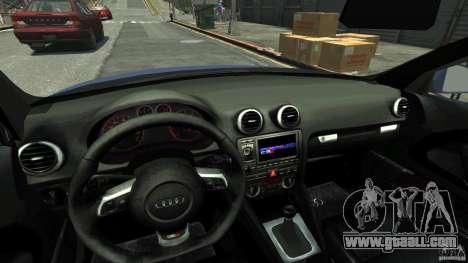 Audi S3 2006 v1.1 is not tonirovanaâ for GTA 4 inner view