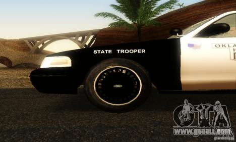 Ford Crown Victoria Oklahoma Police for GTA San Andreas right view