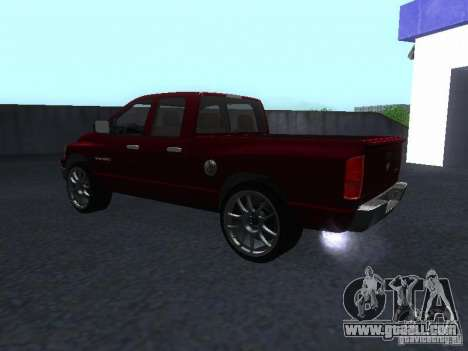Dodge Ram 1500 v2 for GTA San Andreas back left view