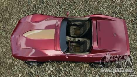 Chevrolet Corvette Sting Ray 1970 Custom for GTA 4 right view
