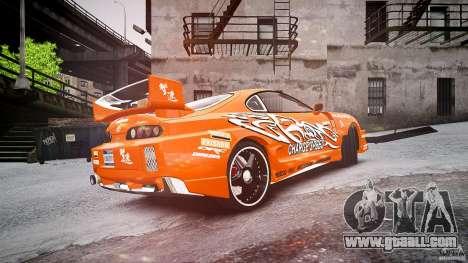 Toyota Supra MK4 Tunable v1.0 for GTA 4 back left view