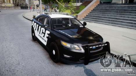 Ford Taurus Police Interceptor 2011 [ELS] for GTA 4 back view