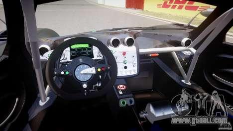 Pagani Zonda R 2009 for GTA 4 right view