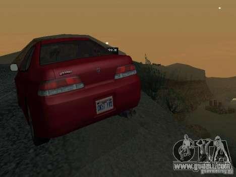 Honda Prelude Sport for GTA San Andreas upper view