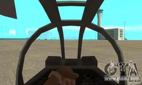 Hunter - AH-1Z Cobra for GTA San Andreas right view