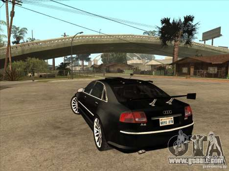 Audi A8 Tuned for GTA San Andreas back left view