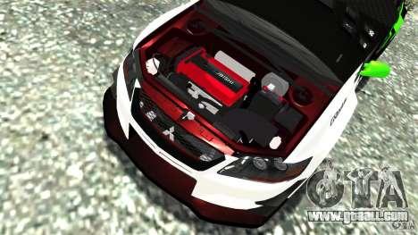 Mitsubishi Lancer Evo IX Tuning for GTA 4 side view