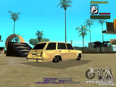 VAZ 2102 Gold for GTA San Andreas