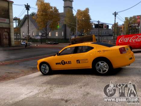 Dodge Charger NYC Taxi V.1.8 for GTA 4 side view
