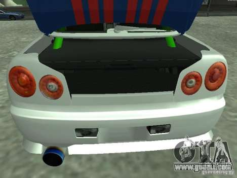 Nissan Skyline Indonesia Police for GTA San Andreas back view