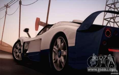 Maserati MC12 V1.0 for GTA San Andreas bottom view