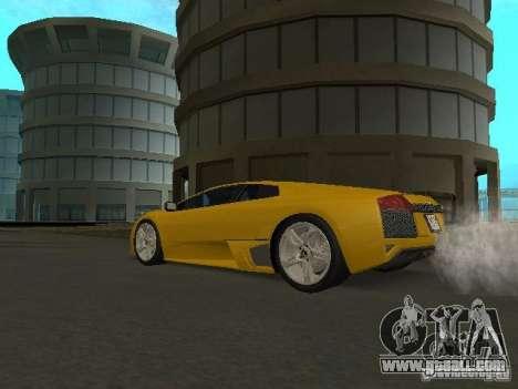 Lamborghini Murcielago LP640 for GTA San Andreas back left view