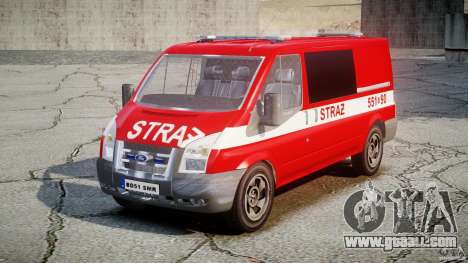 Ford Transit Polish Firetruck [ELS] for GTA 4 right view