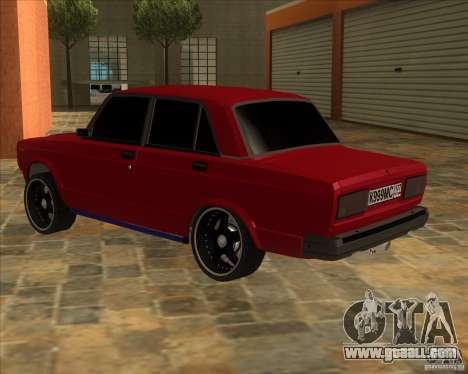 VAZ 2107 hard tuning for GTA San Andreas left view