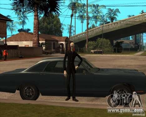 Slender in dark glasses for GTA San Andreas fifth screenshot