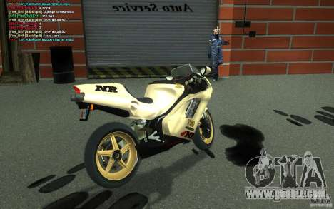 Honda NR 750 Special Edition for GTA San Andreas back left view