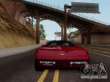 Chevrolet Corvette C4 1984 for GTA San Andreas back view