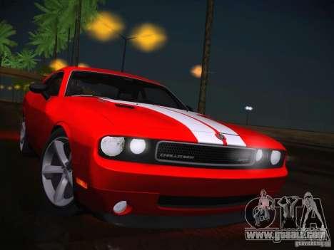 Dodge Challenger SRT8 v1.0 for GTA San Andreas inner view