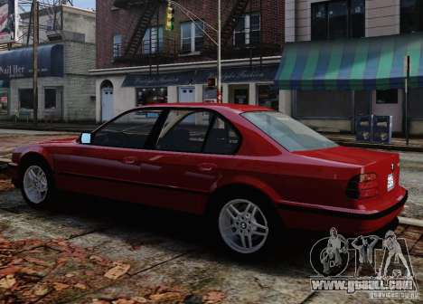 BMW 750i E38 1998 M-Packet for GTA 4 bottom view