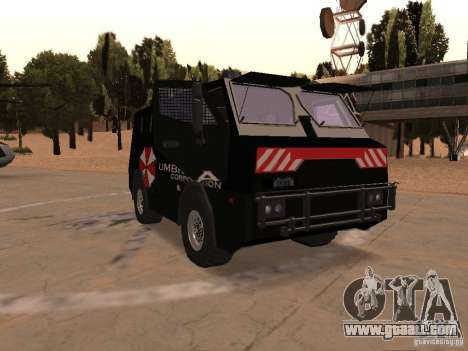 AM 7.0 Umbrella Corporation for GTA San Andreas back view