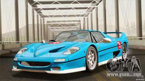 Ferrari F50 v1.0.0 Road Version for GTA San Andreas inner view