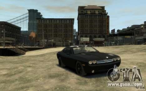 Dodge Challenger Concept Slipknot Edition for GTA 4 back view
