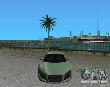 Audi R8 4.2 Fsi for GTA Vice City right view
