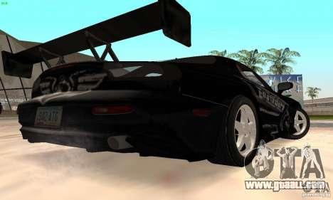 Mazda RX7 Tuned for GTA San Andreas back view