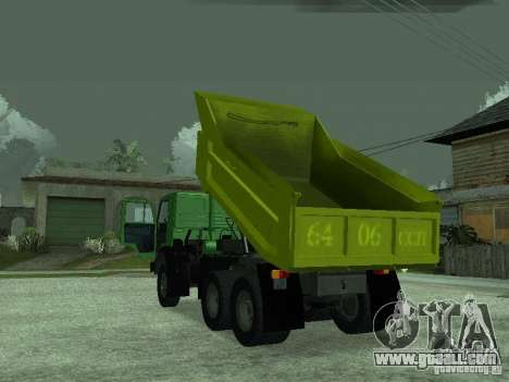KAMAZ 55112 for GTA San Andreas back view