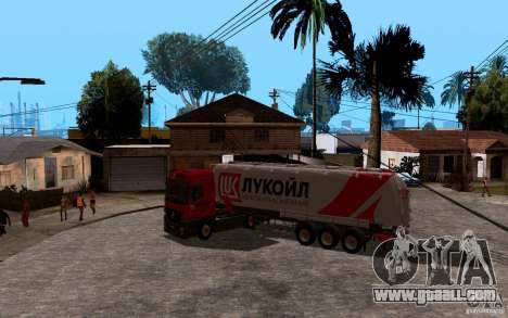 Trailer of Lukoil for Mercedes-Benz Actros for GTA San Andreas back view