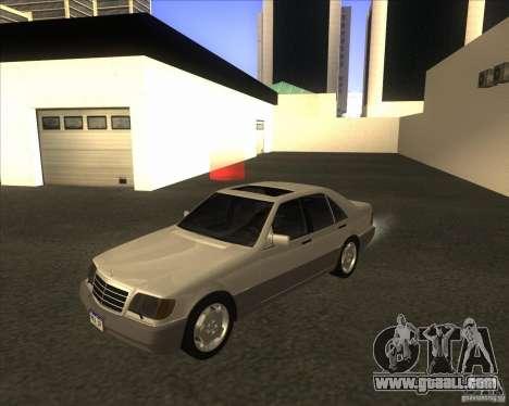 Mercedes Benz 400 SE W140 for GTA San Andreas