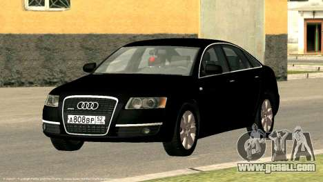 Audi A6 for GTA San Andreas inner view