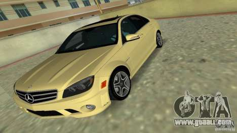 Mercedes-Benz C63 AMG 2010 for GTA Vice City upper view