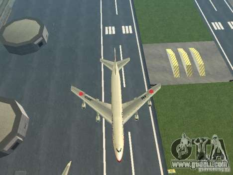 Boeing 747-100 Japan Airlines for GTA San Andreas inner view